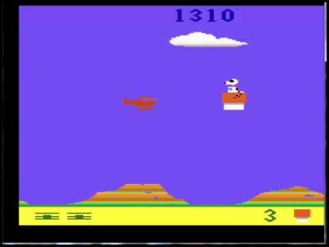 SNOOPY AND THE RED BARON -ATARI 2600-