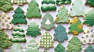 15 TREES | Satisfying Cookie Decorating | THE GRACEFUL BAKER