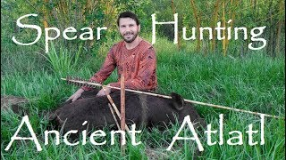 Epic Ancient Stone Age Spear Hunt for Wild Boar. Throwing the ATLATL in Action!