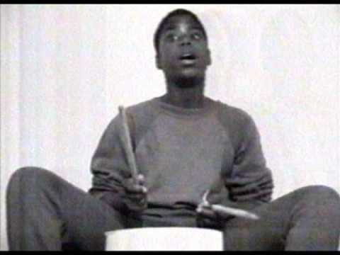 Larry Wright NYC street bucket drummer 1990