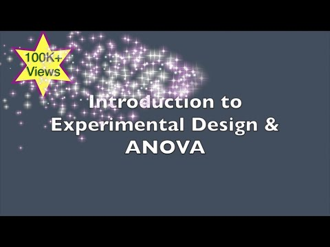 Introduction to experimental design and analysis of variance (ANOVA)