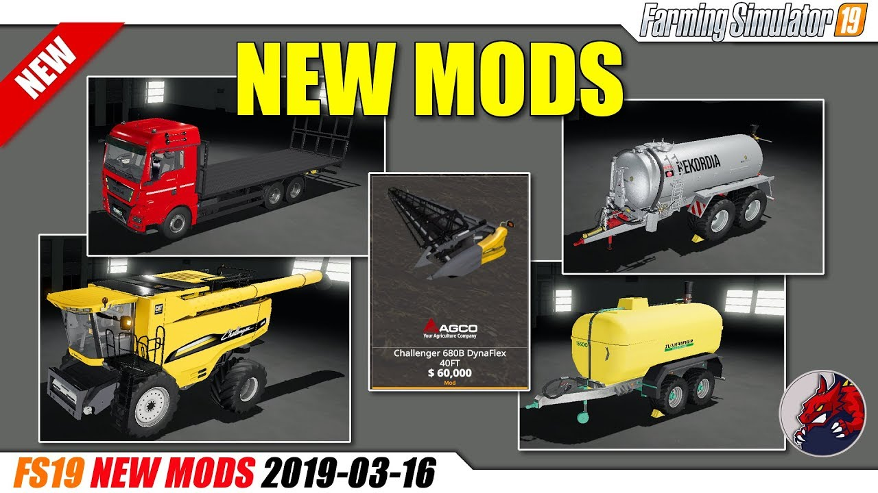 FS19 | New MODS (2019-03-16) - review - BEAST