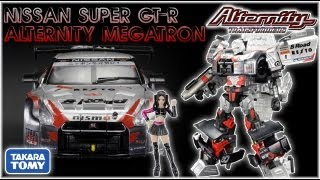 Animated Plastic Takara Tomy Transformers Alternity Nissan Super GTR GT-R Megatron Video Review