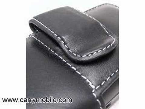 CarryMobile Leather Case for Samsung I760 - Pouch Type (Blac