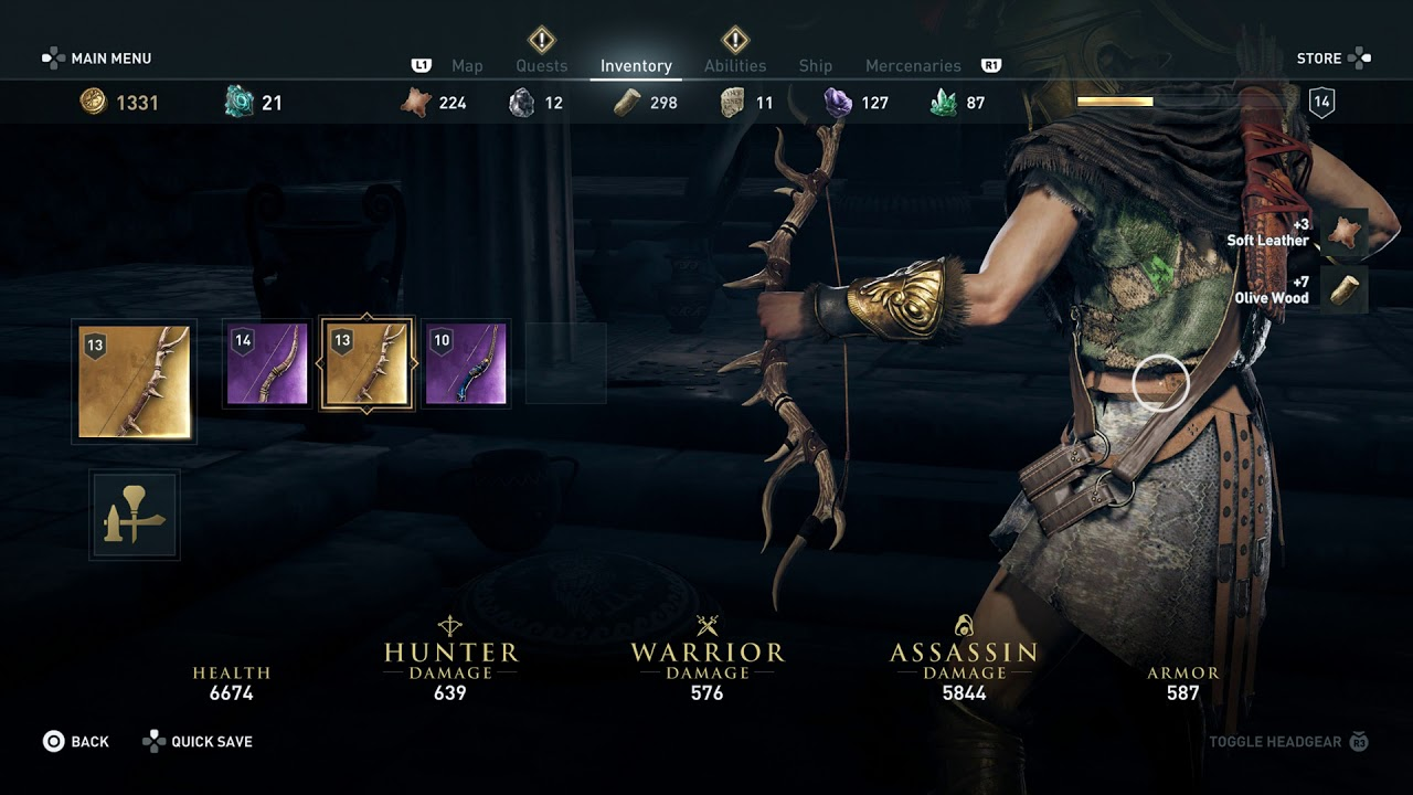 Assassin S Creed Odyssey Artemis Legendary Bow Buffs Appearance