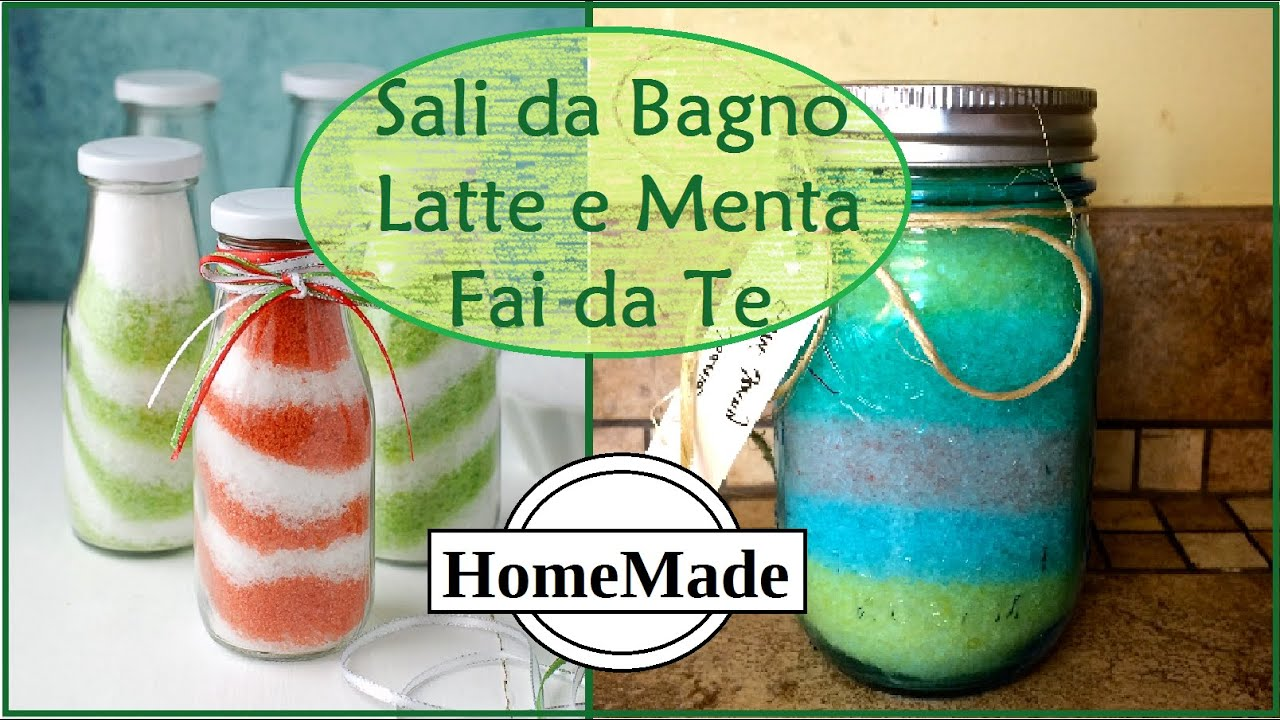 SALI DA BAGNO Latte e Menta Fai da Te - DIY Bath Salt - Milk&Mint ...