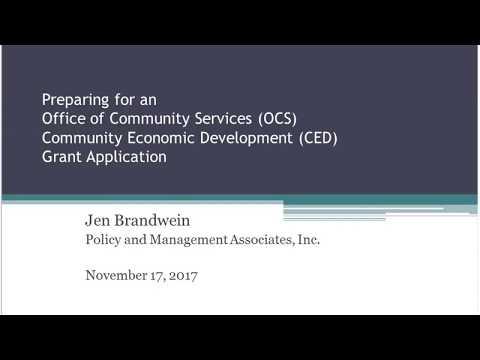Applying for Funding From the OCS Community Economic Development Program