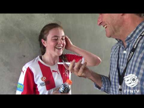 Post Match Talk with Madeline Gault from Darwin Olympic SC