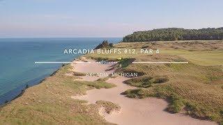 Arcadia, MI: Tee up at Arcadia Bluff Golf Club's par-4 12th hole an...