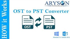 Convert OST to PST in Outlook 2016, 2013 & 2010 Online | OST to PST Converter