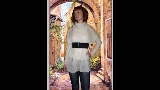 Туника (свитер оверсайз) Вязание спицами Вступление