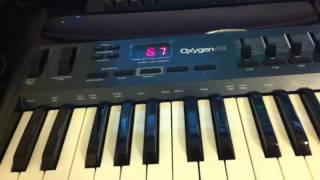 М-аудіо кисень 49 відстій