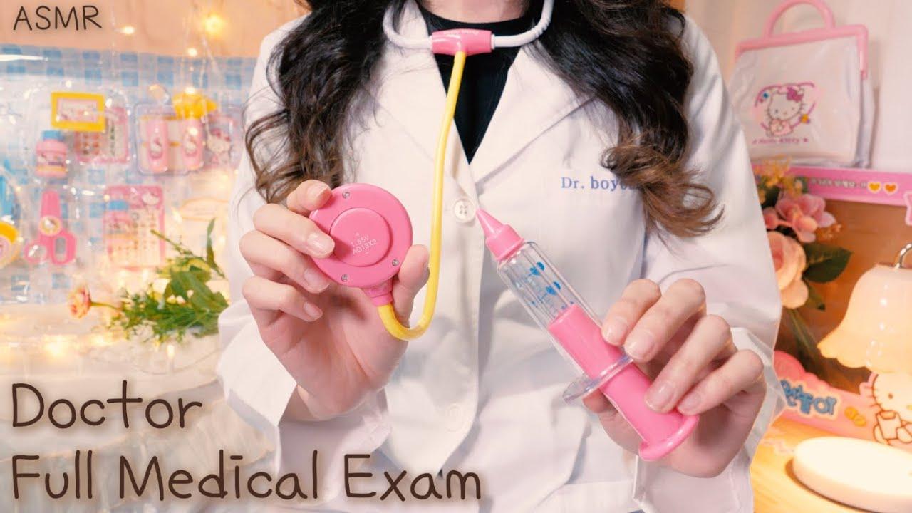 ASMR 정기검진 하는 장난감 병원 의사, 슬립닥터 보영(진성목소리,귀청소,주사,체온계,치과) | Full Medical Exam,Dr.Boyoung(Eng Sub),한국어 상황극