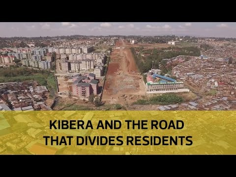 Kibera and the road that divides residents