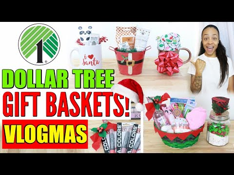 DOLLAR TREE CHRISTMAS GIFT BASKET IDEAS!