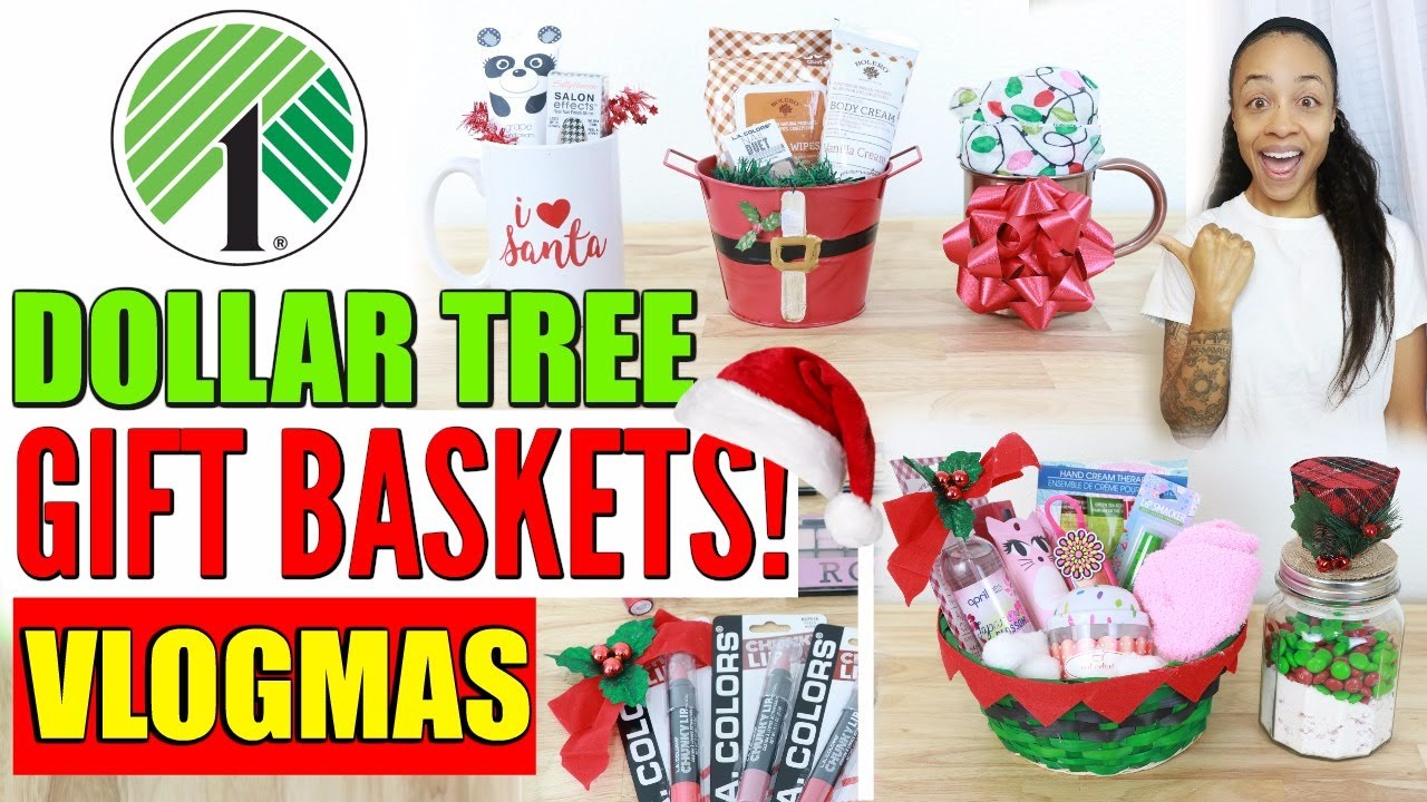 DOLLAR TREE CHRISTMAS GIFT BASKET IDEAS! - YouTube