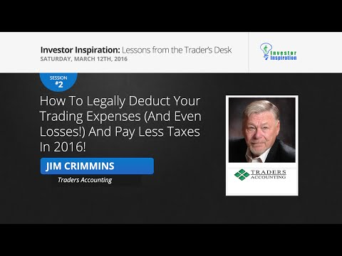 How to legally deduct your trading expenses and pay less taxes | Jim Crimmins