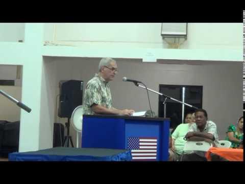 Ambassador Riley in Chuuk, FSM