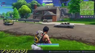 Fortnite online duo Game Play La venganza de yow301. RIKFEL COMIC fun