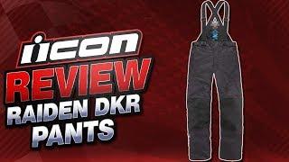 Icon Raiden DKR Pant Review from SportbikeTrackGear.com