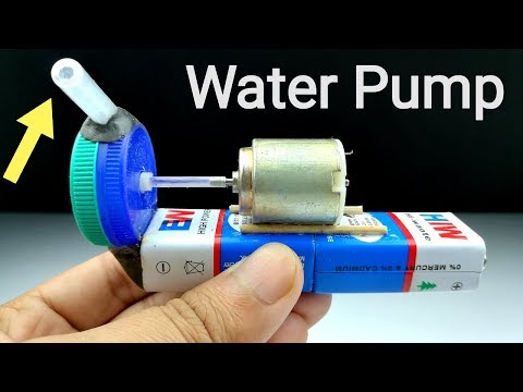 How To Make A Mini Water Pump At Home - Homemade Water Pump