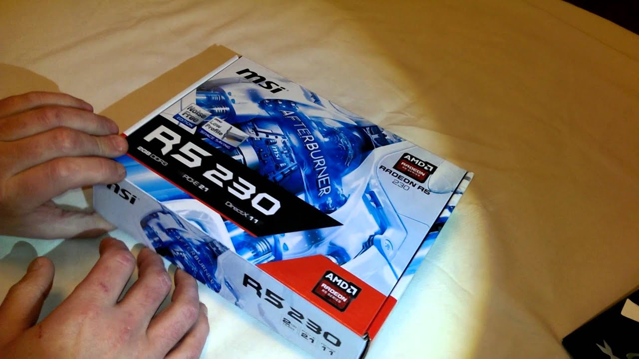 MSI AMD Radeon R5 230 Grapics Card Unboxing