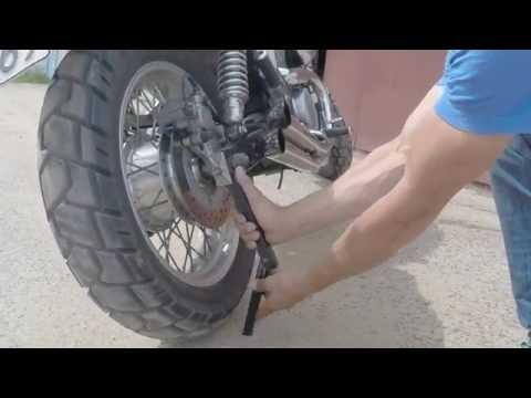 смазка цепи мотоцикла - быстро, просто, аккуратно смотреть в хорошем качестве