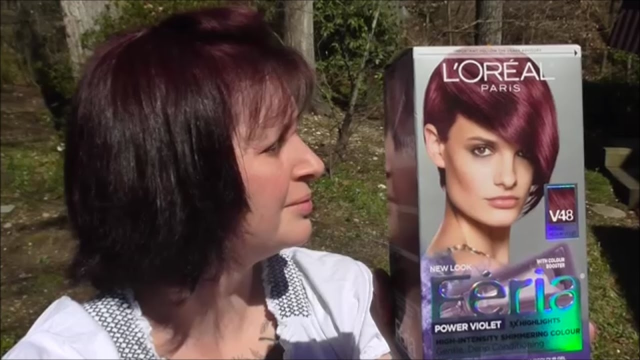 Feria Violet Intense Medium V48 Hair Color Review