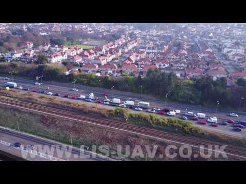 A55 traffic footage - Colwyn Bay, North Wales - 27th March 2017