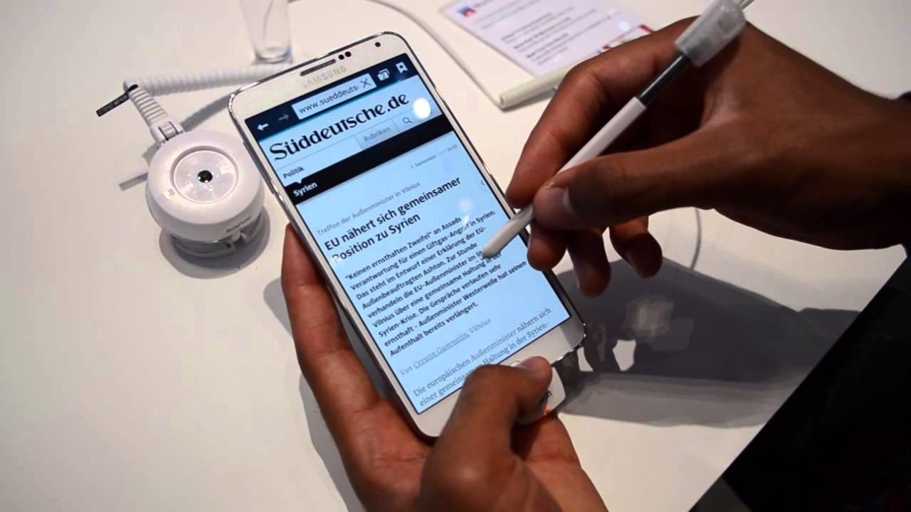 How to use scrapbook on galaxy note 3 - Galaxy Note 3 Screenshot Machen Und Scrapbook Tutorial Deutsch