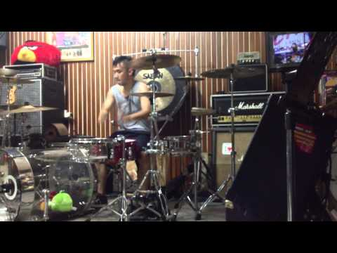 Ikmal tobing - blink 182 - heart's all gone (drum cover)
