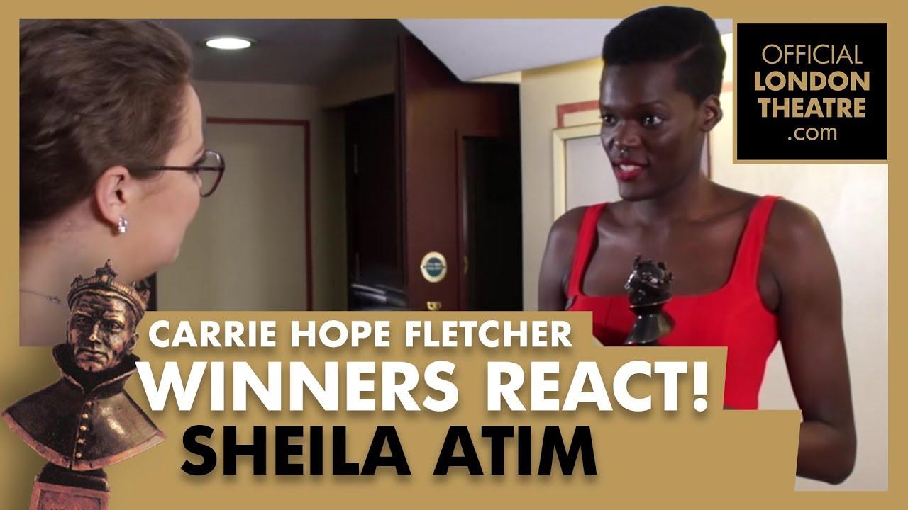 Winners Reactions - Olivier Awards 2018 -  Carrie Hope Fletcher interviews Sheila Atim