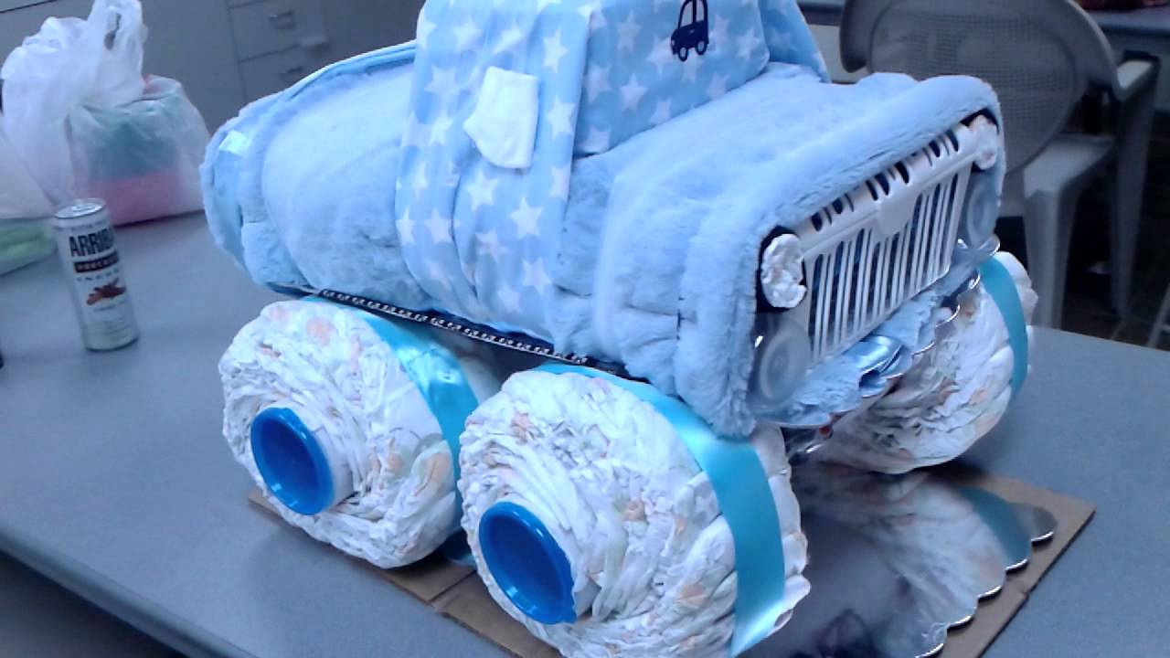 How To Make A Car Diaper Cake