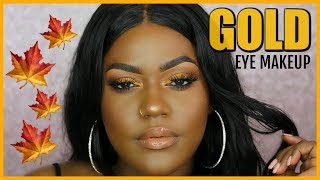 "Gold Fall Makeup Look Makeup Geek ""Pumpkin Spice"" Palette 