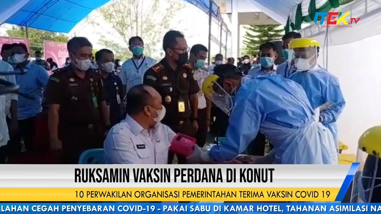 Ruksamin Vaksin Perdana di Konawe Utara