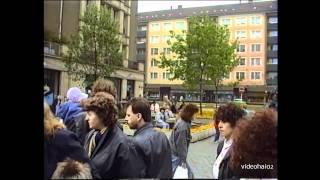 Karl-Marx-Stadt schon Chemnitz / Limbach-Oberfrohna Mai  1990 es ist Markttag
