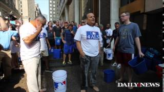 Joe Torre and the new MLB commissioner take the ALS Challenge.