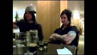 Synyster Gates and The Rev at a bar