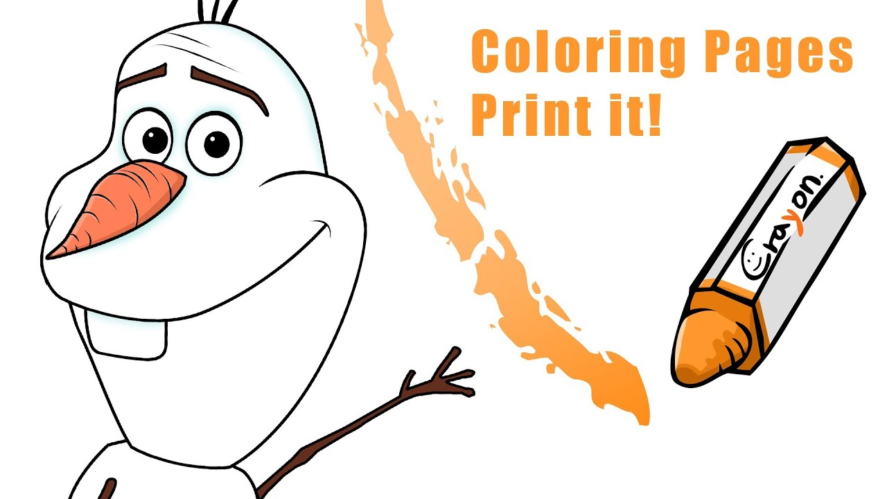 how to draw a olaf from frozen create a coloring pages youtube