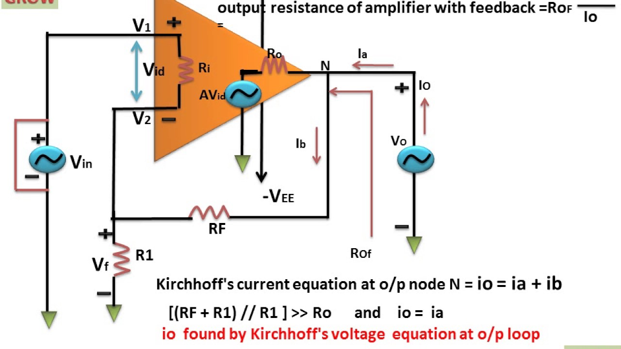 Output Resistance With Feedback In Series Amplifier Instrumentation Circuit Diagram Learn And Grow
