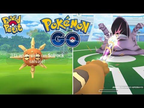 CAPTURA Y PELEA #11! SOLROCK IMPARABLE! (ANTES DEL EVENTO DE LUCHA) [Pokémon GO-davidpetit] thumbnail