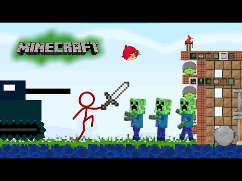 Animation vs  Minecraft (Angry bird remix)