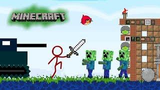 Animation vs  Minecraft (Angry bird remix)