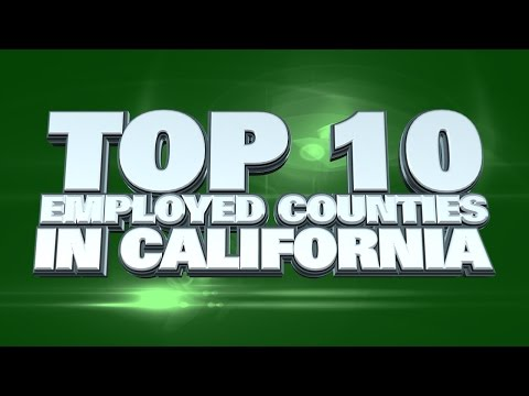 10 counties in California easiest to find a job 2014