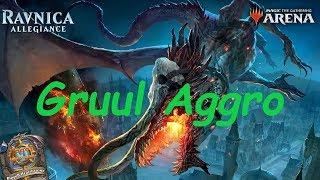 Magic Arena MTGA: Gruul (G/R) Aggro Deck #1 - Ravnica Allegiance - Standard Contructed
