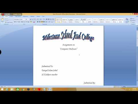 How To Make A Cover Page For Assignments Youtube