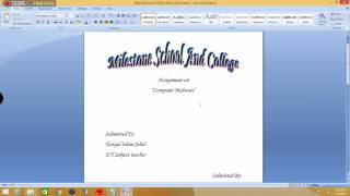 How To make A Cover Page for Assignments thumbnail