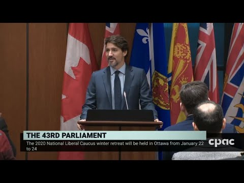 PM Justin Trudeau speaks at Liberal caucus meeting in Ottawa