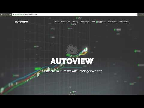Autoview - Create Crypto Trading Bot just in few minutes in TradingView.
