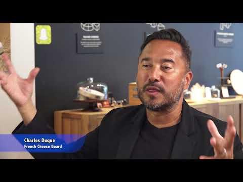 GlobeTrotter Jon Haggins TV at Cheese Week NY